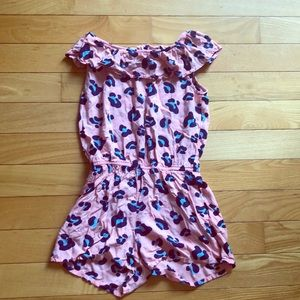 Girls leopard romper